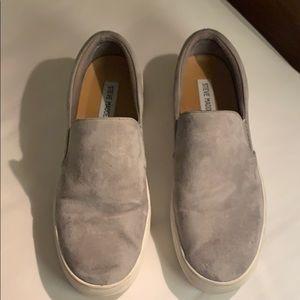 Steve Madden Grey Slip on Sneakers